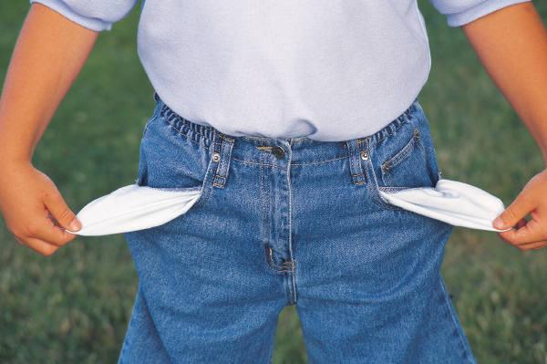 Бедный человек - пустые карманы