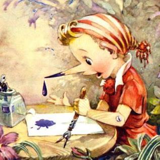 Буратино пишет письмо