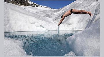 Купание в холодной воде