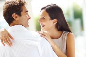 Счастливые жена и муж