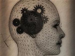 Шестеренки внутри человеческого черепа