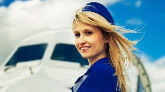 Красивая стюардесса